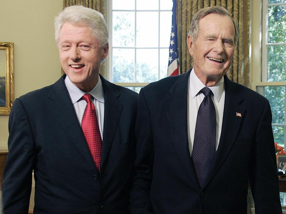 Bill Clinton and George H.W. Bush in 2005. (Photo: Jim Watson/AFP/Getty Images)