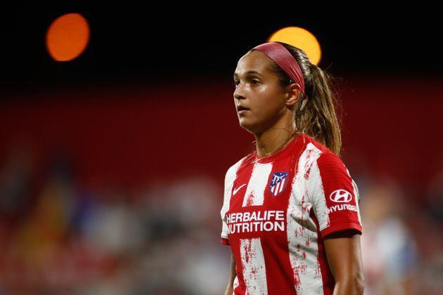 Deyna Castellanos of Atletico Madrid, along with 23 other players in the Venezuelan women's national team, signed a letter detailing abuse and sexual misconduct from a former head coach. Two Australian soccer stars also came forward with allegations about a toxic culture. (Photo: Europa Press Sports via Getty Images)