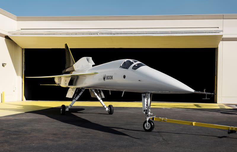 Boom Supersonic rolls out demonstrator aircraft in bid to break sound barrier