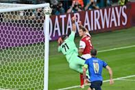 Arnautovic thought this goal had put Austria in the lead against Italy only to see it ruled out for offside