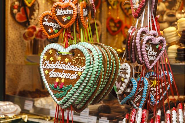 traditional gingerbread hearts...