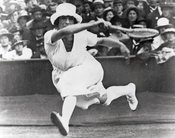 <p>Suzanne Lenglen of France at the VII Olympic Games circa April of 1920 in Antwerp, Belgium.</p><br> <p>Notice her skirt and stocking that came up to her knees? Not to mention the hat!</p>