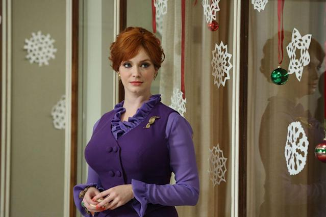 "Joan Harris (Christina Hendricks) in Part 1 of the ""Mad Men"" Season Premiere, ""The Doorway."""