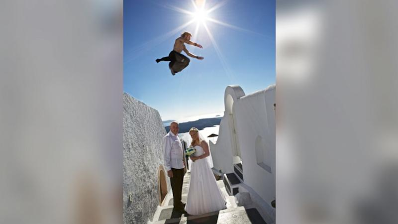 This Isn't Your Typical Wedding 'Jumping Photo'