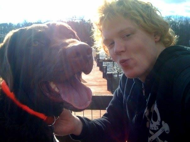 Timothy Reeves with his dog Vern, who was shot dead by an Anne Arundel County Police officer in 2014 (Facebook Justice for Vern)
