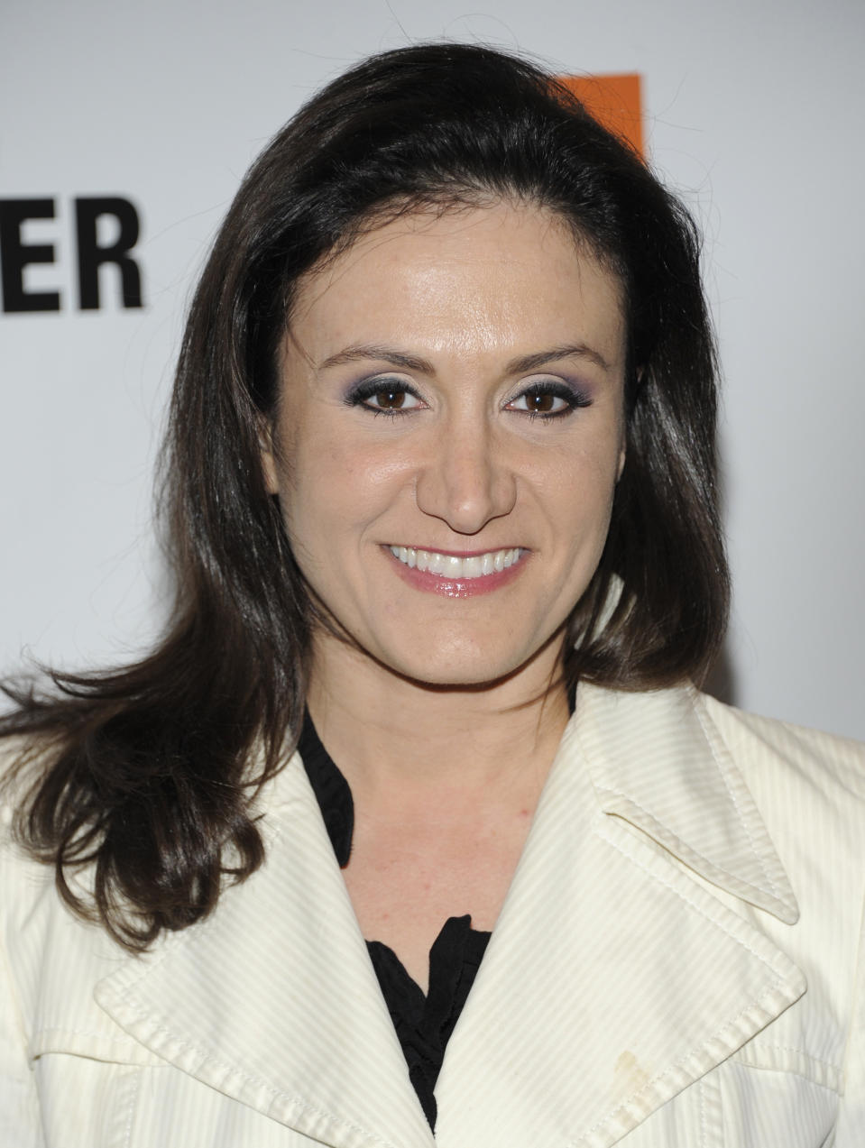 FILE - In this May 4, 2011, file photo, Michelle Caruso-Cabrera arrives at the Walter Reade Theater in New York. The former CNBC anchor will challenge Rep. Alexandria Ocasio-Cortez (D-N.Y.) in the Democratic primary on June 23, 2020. (AP Photo/Evan Agostini, File)