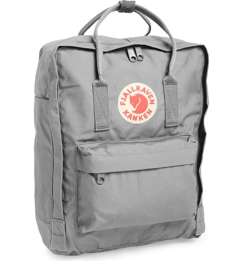 Fjällräven Kånken Water Resistant Backpack in fog