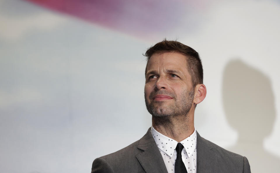 Director Zack Snyder poses for photographers during the Japan premiere of his latest film
