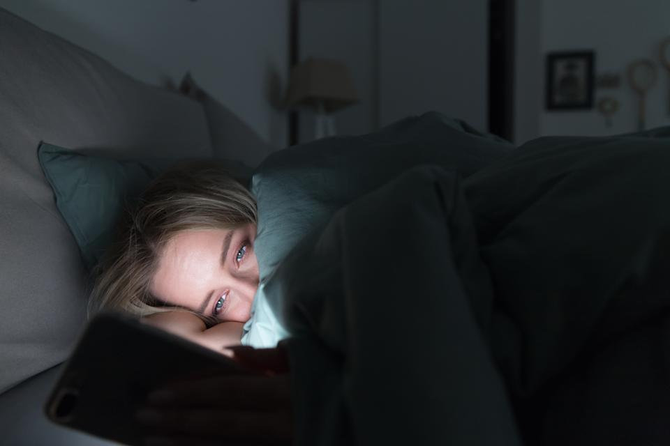 woman with Fatigue or insomnia