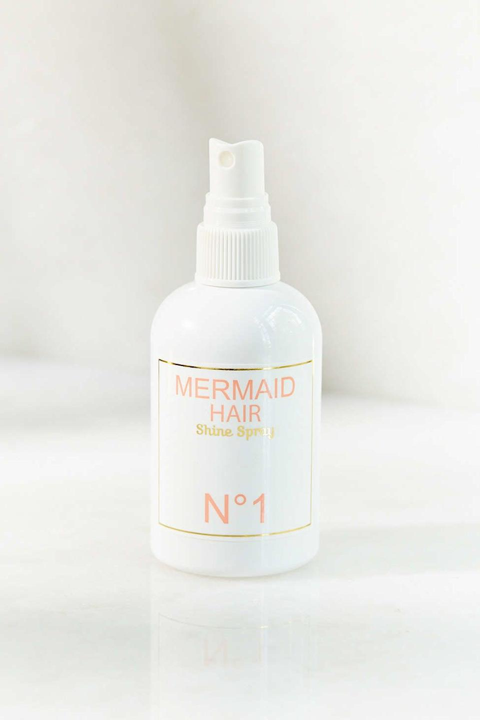 """Mermaid Hair Shine Spray, $28, <a href=""""http://www.urbanoutfitters.com/urban/catalog/productdetail.jsp?id=33853193&category=SEARCH+RESULTS"""" target=""""_blank"""">Urban Outfitters</a>"""
