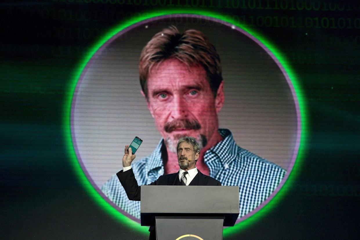 This John McAfee-backed cryptocurrency has major red flags. Investors should tread carefully. | Source: AP Photo / Ng Han Guan