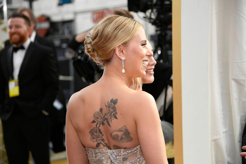 Scarlett Johansson attends the 92nd Annual Academy Awards. (Photo: Kevork Djansezian via Getty Images)