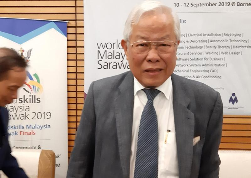 State Education, Science and Technological Research Minister Datuk Seri Michael Manyin says dilapidated schools issue has been settled with Putrajaya. — Picture by Sulok Tawie