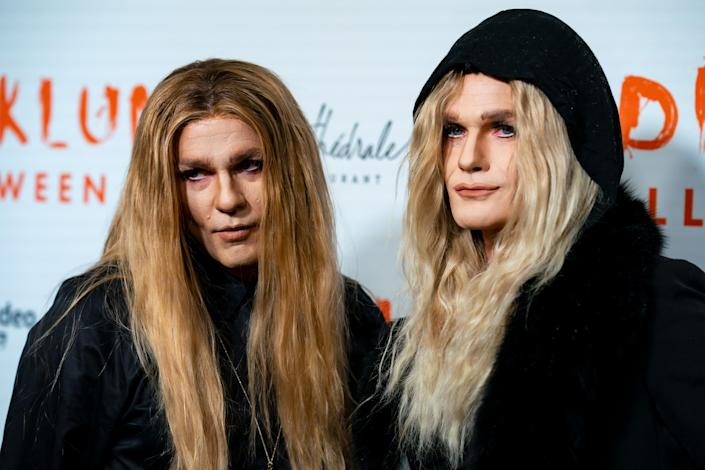 """""""Oct. 1 hits and I'm dressed in the spirit of Halloween,"""" Burtka (left) has said. (Photo: Gotham via Getty Images)"""