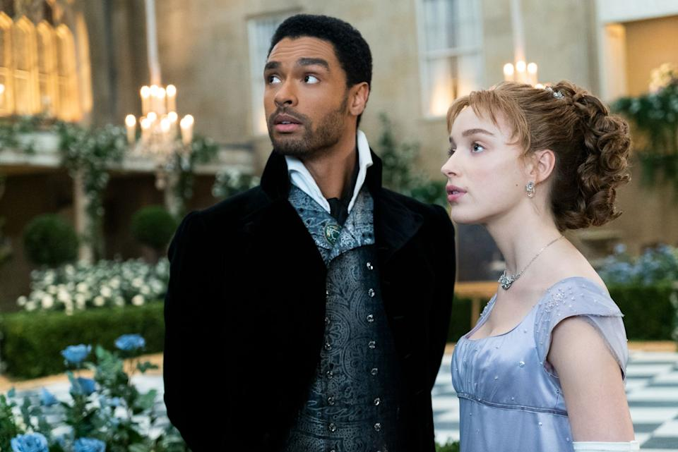 The Duke of Hastings and Daphne Bridgerton in Bridgerton. (Credit: Netflix)