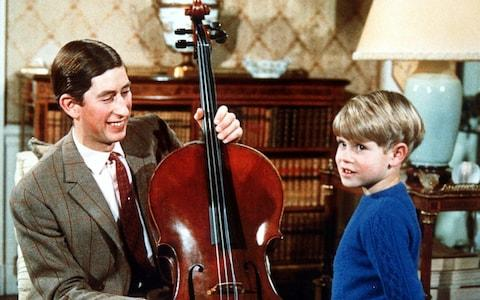 Prince Charles, his cello and Prince Edward in 1969 - Credit: Rex