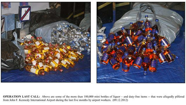 'Operation Last Call': 18 Charged for Swiping 100,000 Mini Liquor Bottles
