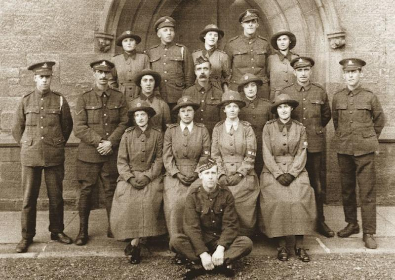 WAAC (Women's Army Auxiliary Corps) group photo. Men and women were not on equal footing in the Services but uniform gave a sense of belonging. Here, smart WAACs take their place in a group photograph.