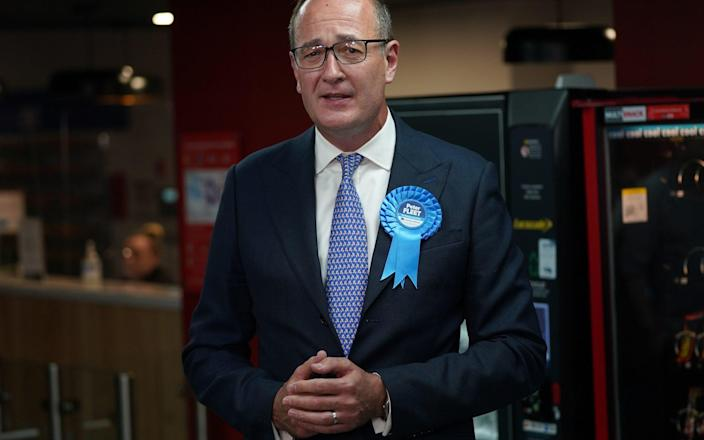 Conservative candidate Peter Fleet, who was defeated by Sarah Green of the Liberal Democrats, speaks to the media after the Chesham and Amersham by-election declaration at Chesham Leisure Centre in Chesham, Buckinghamshire. Picture date: Friday June 18, 2021. - PA