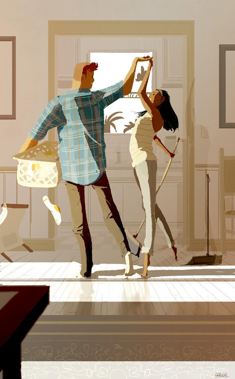 Finding love in the little things.  (Pascal Campion Art)