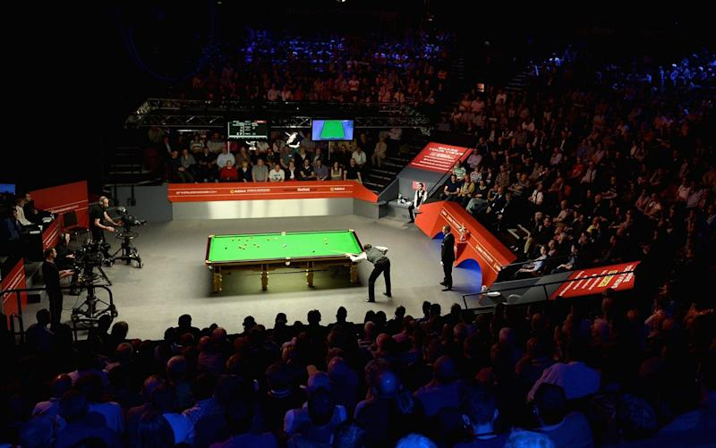 Sheffield's Crucible Theatre has played host to the World Snooker Championship for 40 yeas - Getty Images Europe