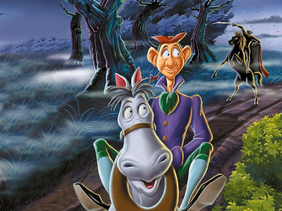 "<p>Washington Irving's <em>The Legend of Sleepy Hollow</em> gets gorgeously animated by Disney, with narration by Bing Crosby. If the Headless Horseman is too frightening, the second half of the feature is a romp based on The Wind in the Willows that should make kids forget all about their fears.</p><p><a class=""link rapid-noclick-resp"" href=""https://www.amazon.com/Adventures-Ichabod-Mr-Toad/dp/B00CQOKD7I?tag=syn-yahoo-20&ascsubtag=%5Bartid%7C10055.g.28038087%5Bsrc%7Cyahoo-us"" rel=""nofollow noopener"" target=""_blank"" data-ylk=""slk:WATCH ON AMAZON"">WATCH ON AMAZON</a> <a class=""link rapid-noclick-resp"" href=""https://go.redirectingat.com?id=74968X1596630&url=https%3A%2F%2Fwww.disneyplus.com%2Fmovies%2Fthe-adventures-of-ichabod-and-mr-toad%2F74sGKrq2Gm6j&sref=https%3A%2F%2Fwww.goodhousekeeping.com%2Flife%2Fentertainment%2Fg28038087%2Fbest-scary-movies-for-kids%2F"" rel=""nofollow noopener"" target=""_blank"" data-ylk=""slk:WATCH ON DISNEY+"">WATCH ON DISNEY+</a></p>"