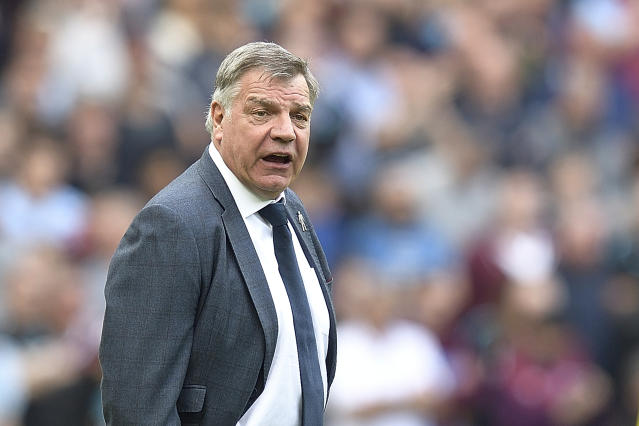 Fed up: Big Sam has hit back at Gary Neville's comments about his style of football