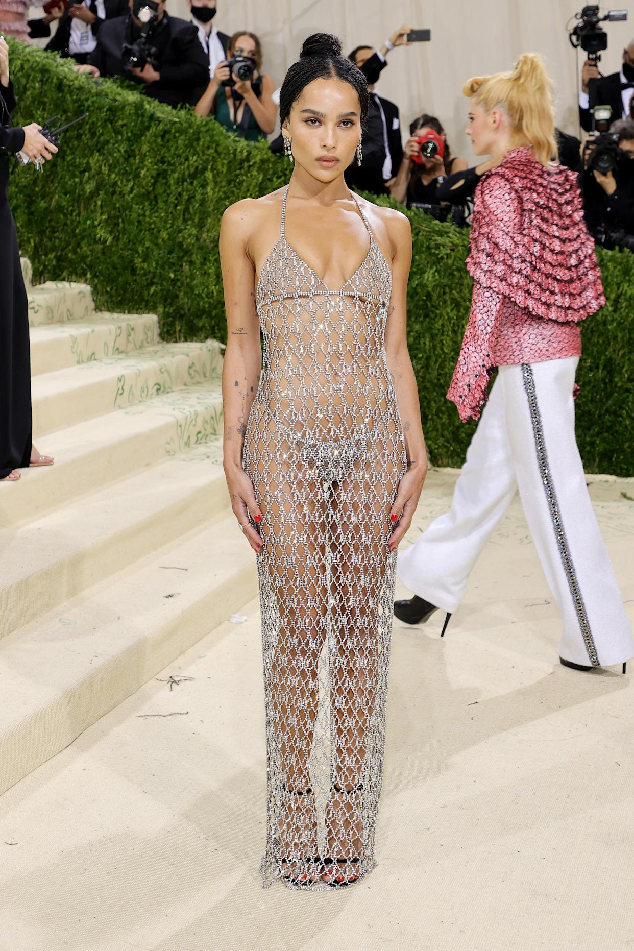 Zoe Kravitz attends The 2021 Met Gala Celebrating In America: A Lexicon Of Fashion at Metropolitan Museum of Art on September 13, 2021 in New York City. (Getty Images)