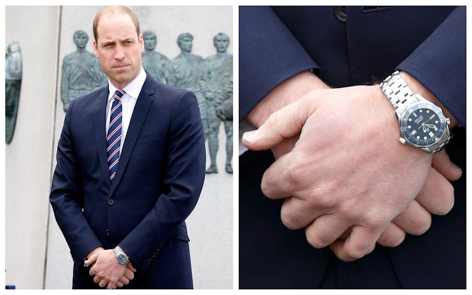 Princess Diana famously gifted Prince William an Omega Seamaster, which he is rarely seen without - Getty Images/Getty