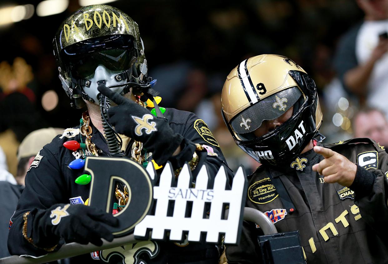Saints fans, seen here in 2019, will need to be vaxxed or tested to come to games this year. (Photo by Sean Gardner/Getty Images)
