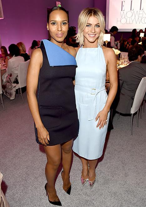 Kerry Washington and Julianne Hough pose for a picture at the Elle Women in Hollywood Awards