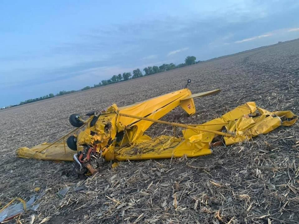 A plane crashed Tuesday in Central City, Nebraska, after it took off without a pilot.