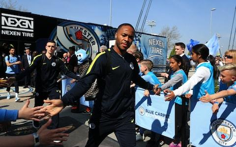 Raheem Sterling of Manchester City arrives at the stadium prior to the Premier League match between Manchester City and Tottenham Hotspur - Credit: GETTY IMAGES