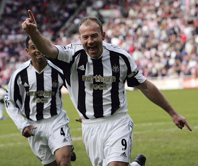 <p>Alan Shearer became the top goalscorer for his hometown club, Newcastle United, in 2006 by beating legend Jackie Milburn. </p>