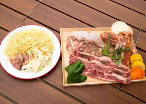 ▲Recommended for those who want to enjoy plenty of meat: The Wild Set (¥2480, tax not included; *photo shows 2 servings)