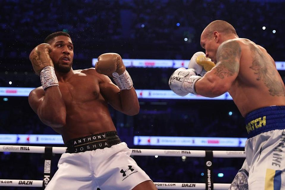Anthony Joshua failed to hurt Oleksandr Usyk in Saturday's heavyweight title fight in London  (Getty Images)