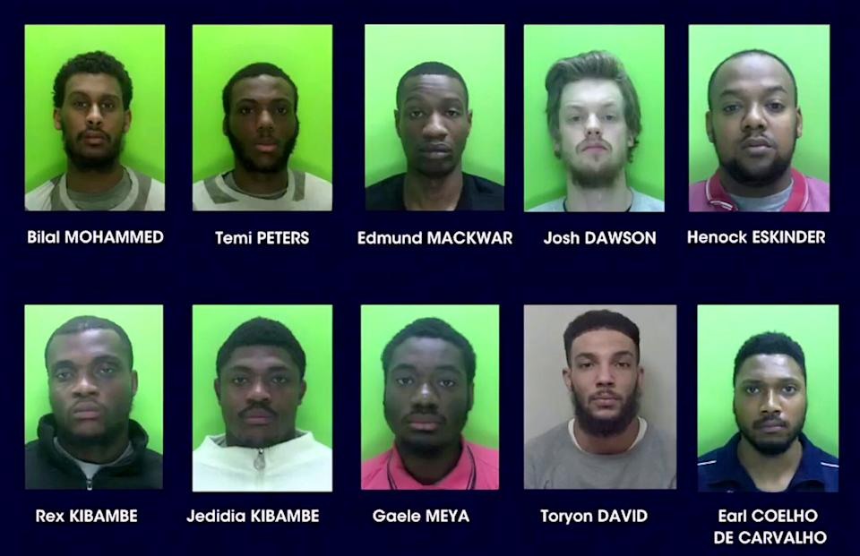 All ten members of the gang have now pleaded guilty to aggravated burglary and will be sentenced at a later date. (SWNS)