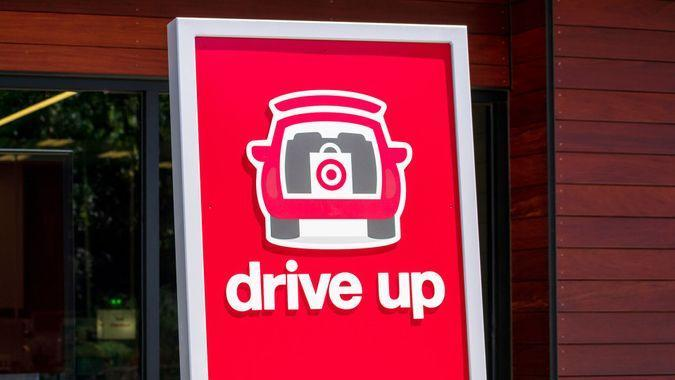 Target store drive up pick up only
