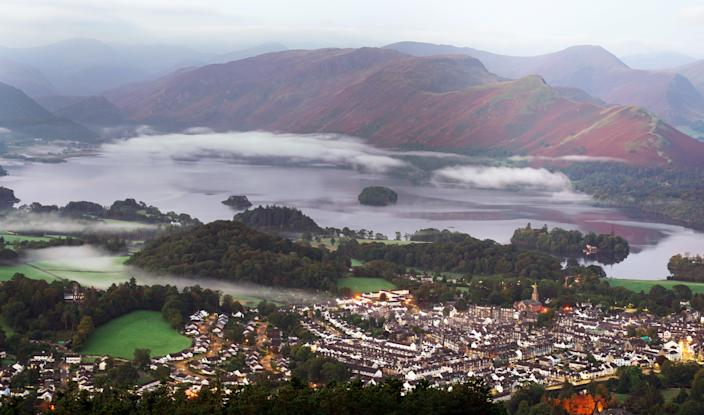 Mist as summer turns to autumn over the Lake District (PA)