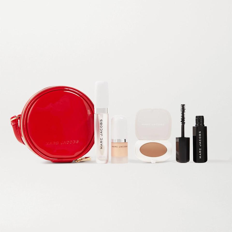 """A gift set they can rely on when in pinch. It has all the beauty essentials they may need—mascara, bronzer, lip balm, and highlighter. $49, Marc Jacobs Beauty. <a href=""""https://shop-links.co/1722107417659858446"""" rel=""""nofollow noopener"""" target=""""_blank"""" data-ylk=""""slk:Get it now!"""" class=""""link rapid-noclick-resp"""">Get it now!</a>"""