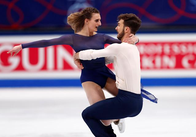 Figure Skating - World Figure Skating Championships - The Mediolanum Forum, Milan, Italy - March 24, 2018 France's Gabriella Papadakis and Guillaume Cizeron during the Ice Dance Free Dance REUTERS/Alessandro Garofalo