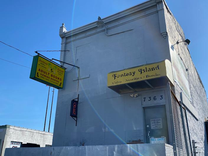 The Fantasy Island adult bookstore, next door to the place where the president's personal lawyer, Rudy Giuliani, held a press conference to allege voter fraud.Richard Hall / The Independent