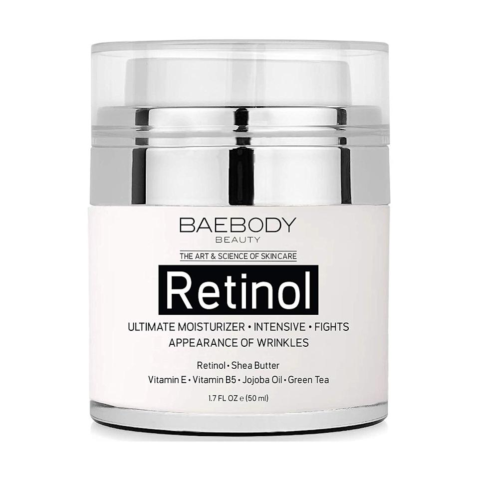 """<p>When wondering what is the best wrinkle cream on the market, Amazon shoppers will likely guide you to this number-one anti-aging best-seller. Baebody's Retinol Moisturizer Cream has an impressive review roster with nearly 3,000 five stars. A lot of customers who left positive reviews on the retinol anti-aging cream say they've noticed a reduction of fine lines, <a href=""""https://www.realsimple.com/beauty-fashion/skincare/honest-beauty-everything-primer-review"""">a dewier or more glowing complexion</a>, faded dark spots, and that the face cream isn't greasy at all. The brand's other products are nothing to balk at, either. Pair this wrinkle cream with the brand's eye gel ($25; <a href=""""https://www.amazon.com/Baebody-Appearance-Circles-Puffiness-Wrinkles/dp/B01K2UMMI0/ref=as_li_ss_tl?ie=UTF8&linkCode=ll1&tag=rsantiagingproductsonamazoncfisher1019-20&linkId=854e89efa7eb155b6ea767e0f9d619a9&language=en_US"""">amazon.com</a>) to look even brighter and refreshed each morning–the dark circles eliminator has nearly 9,000 five-star reviews itself.</p> <p><strong>To buy: </strong>$20; <a href=""""https://www.amazon.com/Baebody-Retinol-Moisturizer-Cream-Face/dp/B01FLO5914/ref=as_li_ss_tl?ie=UTF8&linkCode=ll1&tag=rsantiagingproductsonamazoncfisher1019-20&linkId=e04a464589937449a51081b72d70fa9b&language=en_US"""">amazon.com</a>.</p>"""