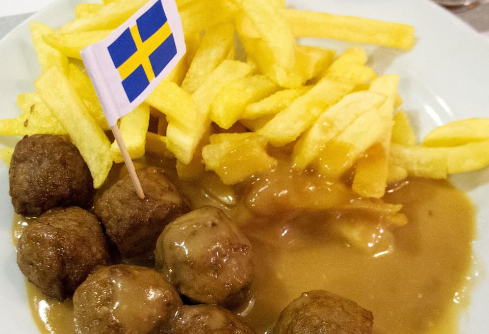 (ILLUSTRATION)An illustration dated 25 February 2013 shows a portion of IKEA meatballs on a plate with potatoes and sauce in Hanover, Germany. IKEAhas also stopped selling its popular meatballs,'Kottbullar', in Germany. After reports of horsemeat being found in IKEA meatballs by Czech officials yesterday, the sale of meatballs has been halted in 24 countries. Photo: JULIANSTRATENSCHULTE | usage worldwide   (Photo by Julian Stratenschulte/picture alliance via Getty Images)