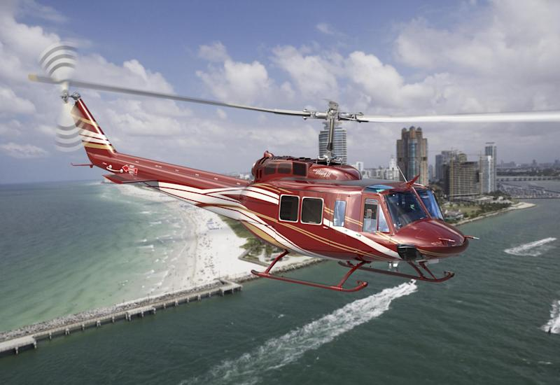 A Bell commercial helicopter