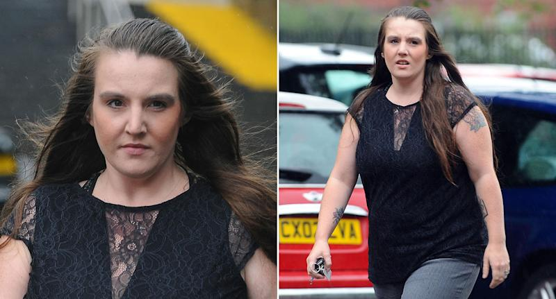 'Calculating': Carla Evans pictured outside court last week. (Wales News)