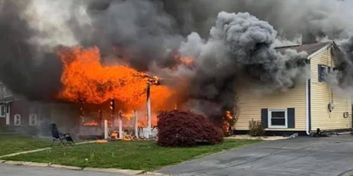 Image: Woman charged with arson after being accused of setting her home on fire (Maryland State Fire Marshal's office)