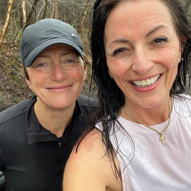 """<p>Plodding along with your mate – not many things in life feel better. Workout buddy, fellow complainer or race day rival, exercising en masse is a big endorphin bringer. Well done, A and D!</p><p><a href=""""https://www.instagram.com/p/CLZK3bslwZy/"""" rel=""""nofollow noopener"""" target=""""_blank"""" data-ylk=""""slk:See the original post on Instagram"""" class=""""link rapid-noclick-resp"""">See the original post on Instagram</a></p>"""