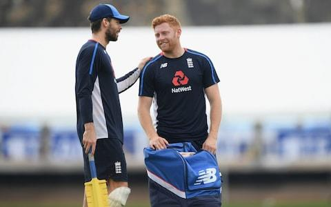 <span>Jonny Bairstow (right) is back in possession of the gloves</span> <span>Credit: getty images </span>