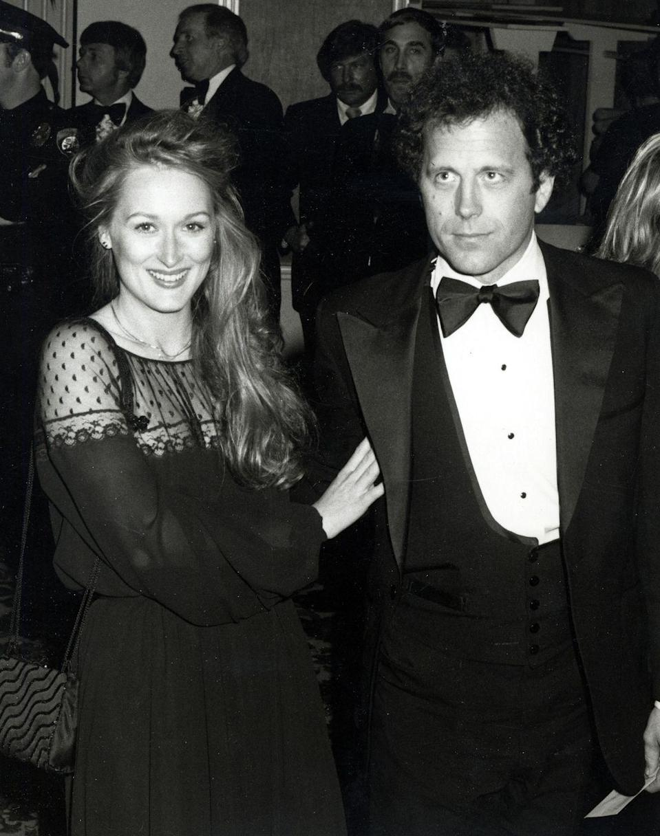 """<p>Meryl Streep's <a href=""""http://www.yours.co.uk/features/celebrity/articles/meryl-streep-at-65-the-love-that-changed-her-life"""" rel=""""nofollow noopener"""" target=""""_blank"""" data-ylk=""""slk:marriage to Don Gummer"""" class=""""link rapid-noclick-resp"""">marriage to Don Gummer</a> has withstood the test of time, lasting just as long as her own career. The couple married in September 1978 after Streep's former partner, John Cazales died from bone cancer. Streep and Gummer have been married for almost four decades and have four children together. </p>"""
